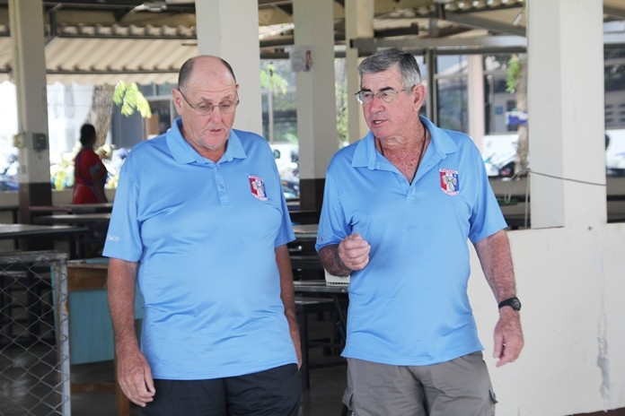 Stan Rees and Tim Knight planning the next community project.