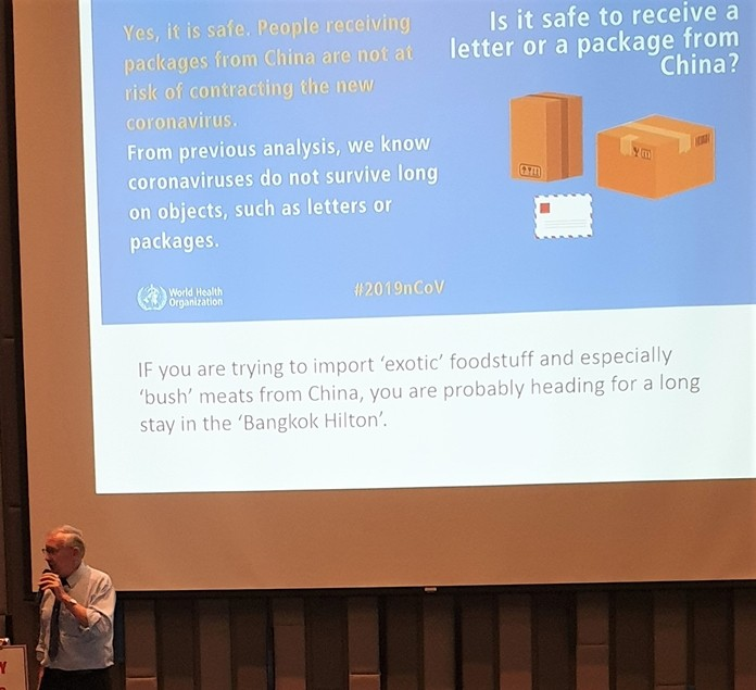 Contrary to many reports in the media, Professor Andy Barraclough debunks this Fake News about being infected by the Coronavirus from packages shipped from China.