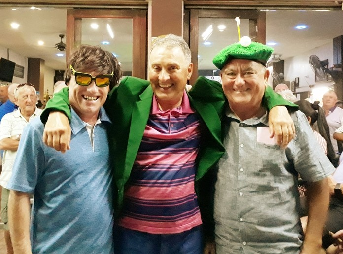 Winner B flight, Charles Miller, with Derek Phillips (L) and Dave Arataki (R).