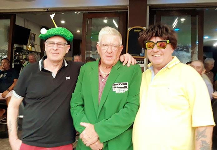 Winner A flight Steve Moxey with Paul Sales and Richard Sunderland.