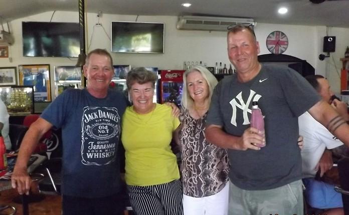 Winners Glyn, Julie, Josie and Andrew.