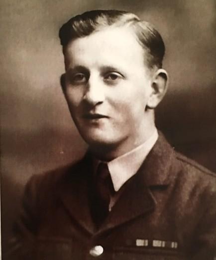 Archie Dunlop, BEM, in his wartime RAF uniform.