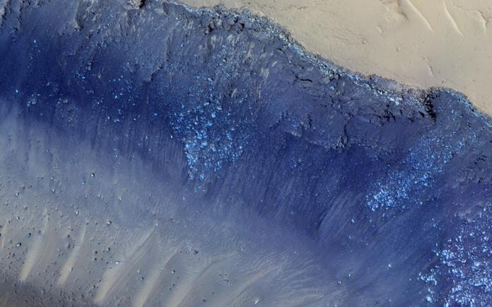 The two largest quakes detected by NASA's InSight appear to have originated in a region of Mars called Cerberus Fossae. Scientists previously spotted signs of tectonic activity here, including landslides. This image was taken by the HiRISE camera on NASA's Mars Reconnaisance Orbiter. Credits: NASA/JPL-Caltech/University of Arizona