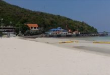 Once bustling with tourists, Koh Larn's beaches are now empty.