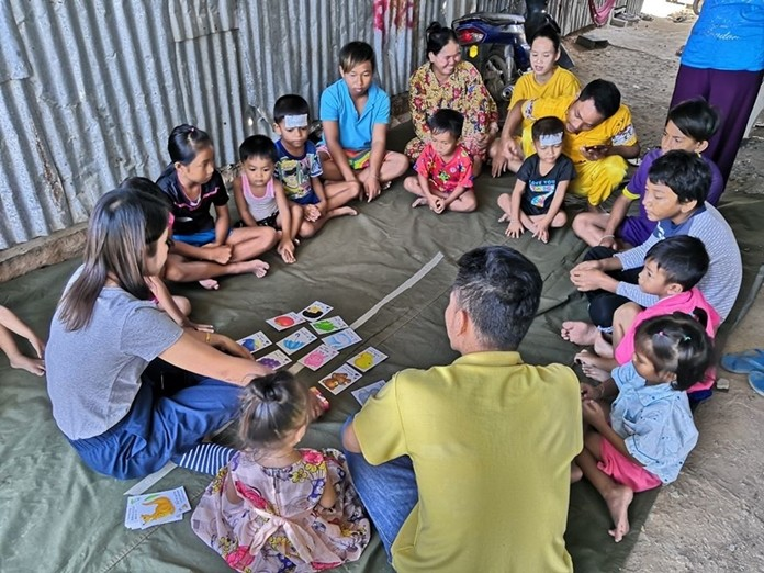 The ASEAN Education Center was among the ranks of schools closed due to the coronavirus pandemic, but continues to run its mobile classroom to teach children in migrant laborer camps.