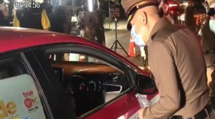 Thailand's armed forces set up checkpoints on roads, connecting Bangkok and neighboring provinces to screen people for temperature and check their identification cards and travel history.