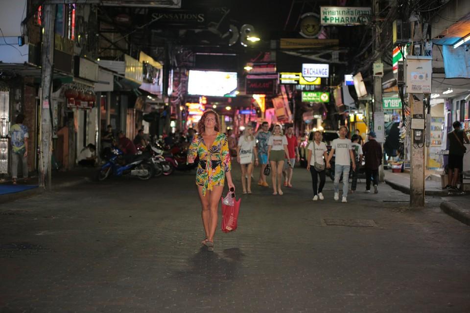 Tourists seem to enjoy having Walking Street to themselves.