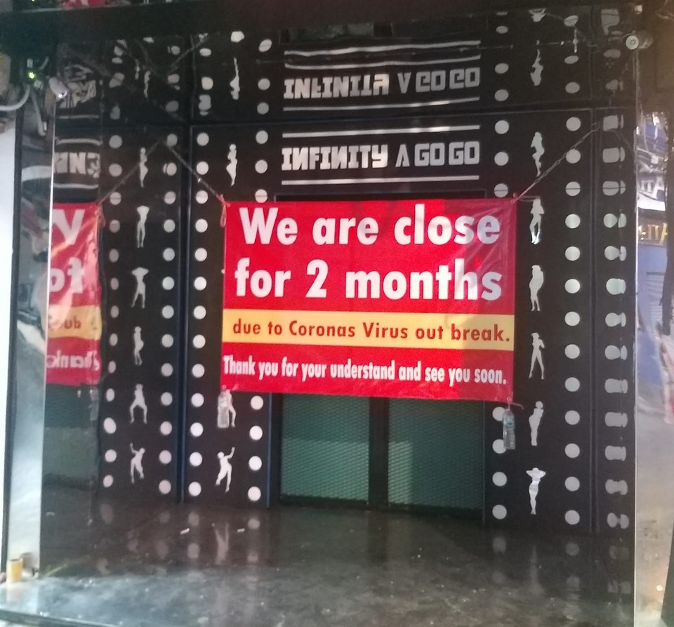 The owners of Infinity a-Go-Go hung a sign on the door saying they would be closed for two months, not two weeks.