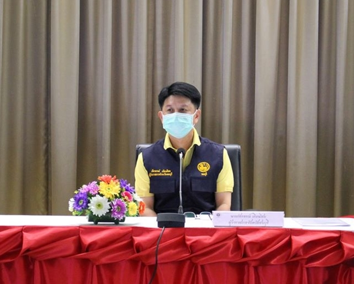 Chonburi Governor Pakarathorn Thienchai announces prohibition of alcoholic beverages from dusk till dawn.