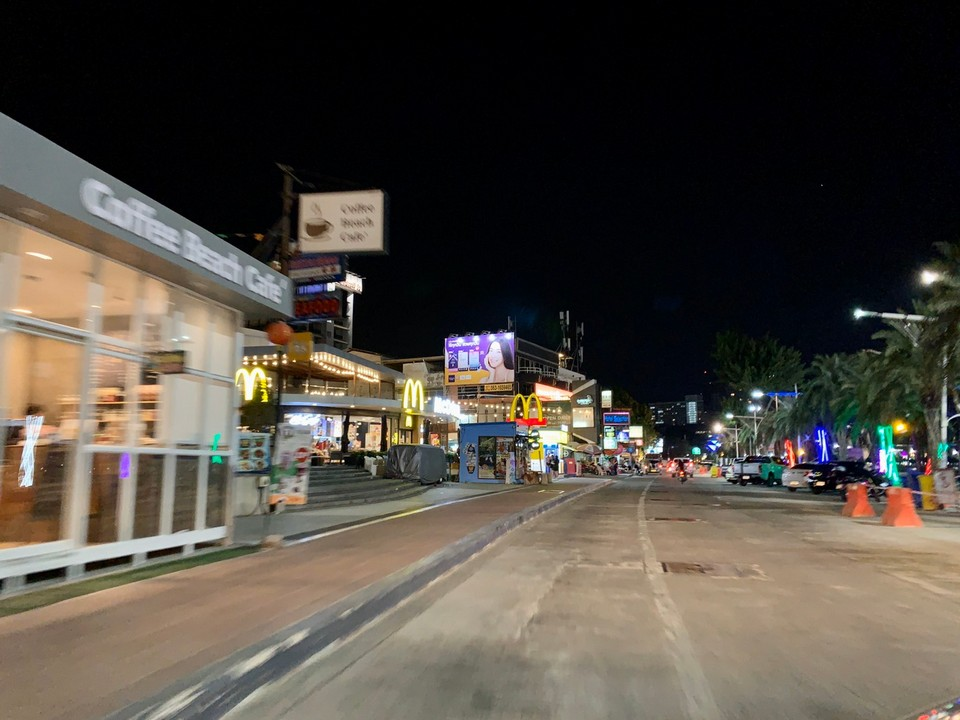 Beach Road has never been so empty so early in the evening.