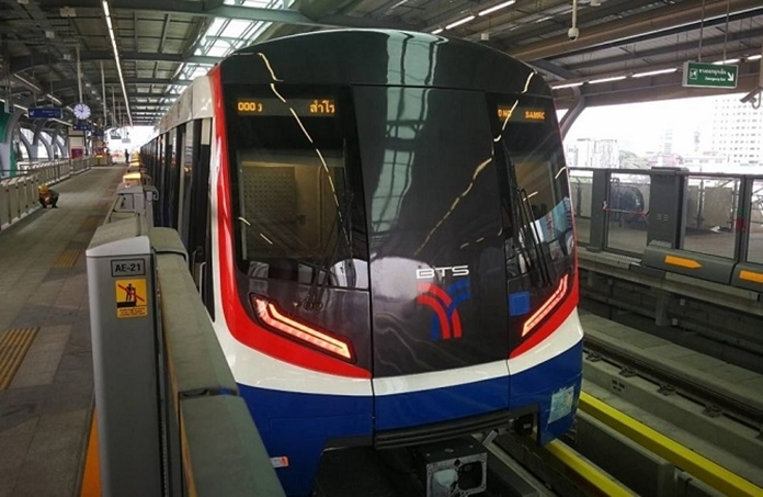 Bangkok's electric trains'services hours were also shortened due to the nationwide curfew.