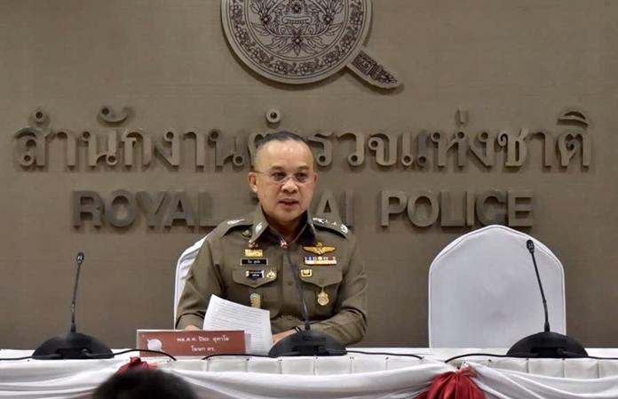 The Royal Thai Police spokesman, Pol Lt Gen Piya Uthayo.