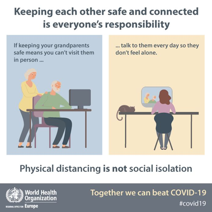 Physical Distancing Is Not Social Isolation