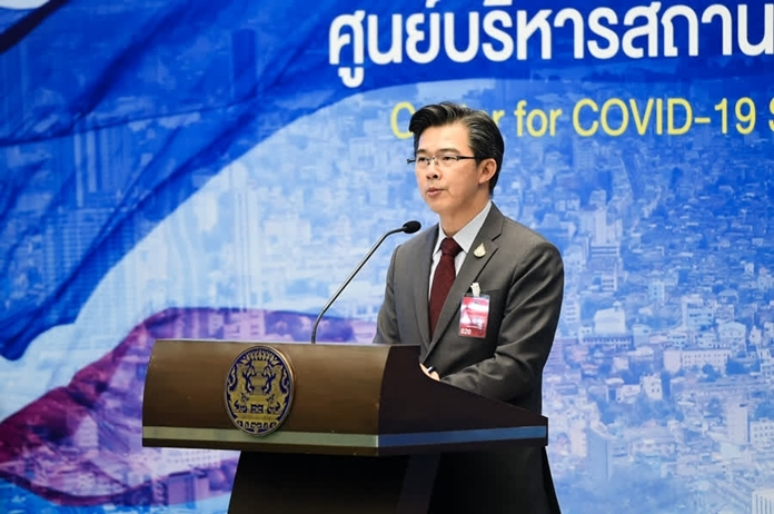 The Spokesman for the Center for the COVID-19 Situation Administration, Dr. Taweesin Visanuyothin.