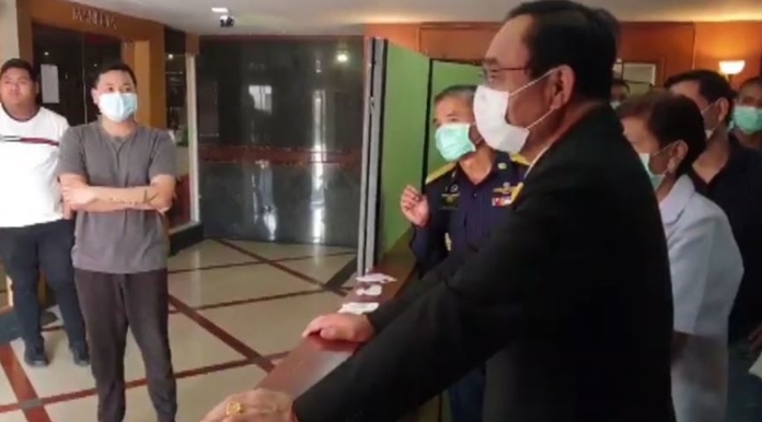 Prime Minister Prayut Chan-o-cha inspected the quarantine operation at the facility and gave moral support to state officials and hotel staff.