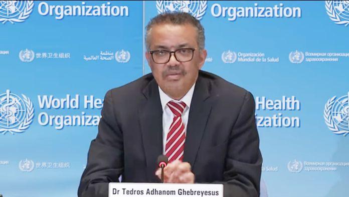 Director-General of the World Health Organization, Dr Tedros Adhanom Ghebreyesus.