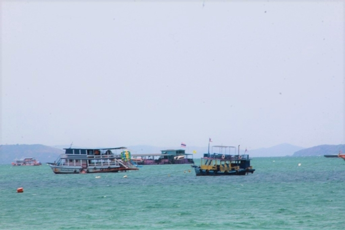 Tourist boats that once used to carry loads of visitors to and from Larn Island are now empty. Docking costs a lot more than leaving them in the sea.