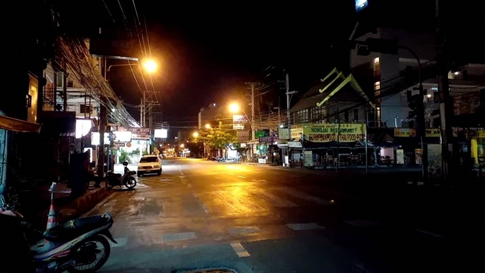 It's been years since it has been this quiet at night in Pattaya.