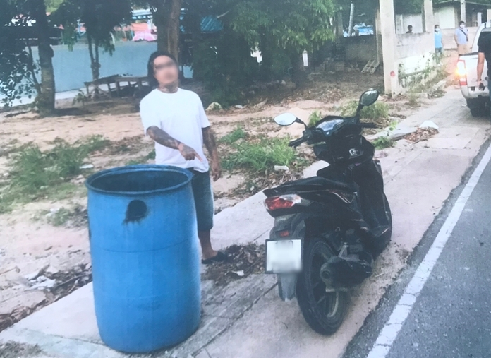 After stealing 5,000 baht from the store, Payungsak threw away the gun and clothes he was wearing.