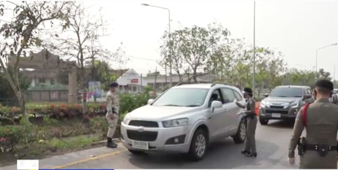 Police continue to impose strict controls on inter-province travel all over Thailand.