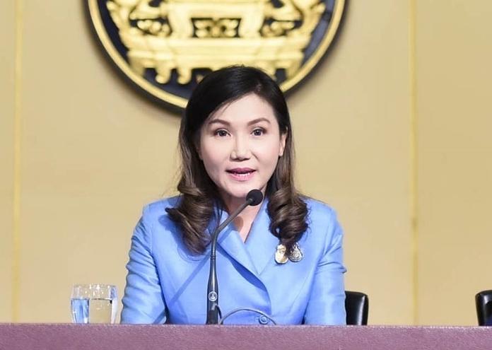 Prof. Narumon Pinyosinwat, Government Spokesperson.