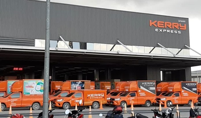 Kerry Express delivery services center in Samut Prakan Province.