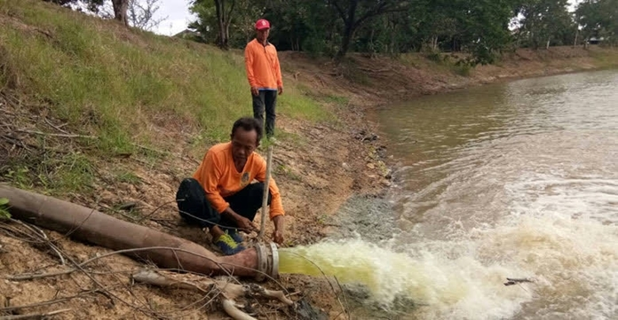 Deficiency of rain over the past two months has caused the water level in natural and community sources to decrease significantly, affecting significant extent of farmland in Lampang.