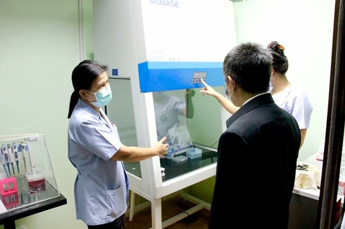 Budhasothorn hospital has launched a real-time PCR laboratory serving its main facility in Chachoengsao and nearby provinces.