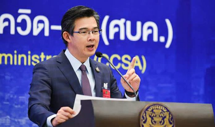Dr Taweesilp Visanuyothin, spokesperson for the Centre for COVID-19 Situation Administration (CCSA).