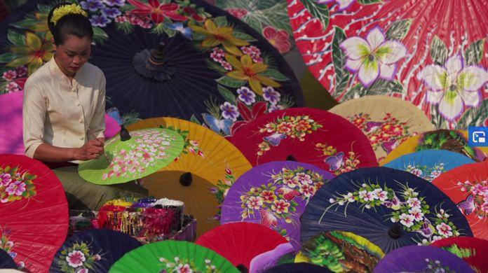 Bo Sang Umbrella Village, Chiang Mai, Thailand.