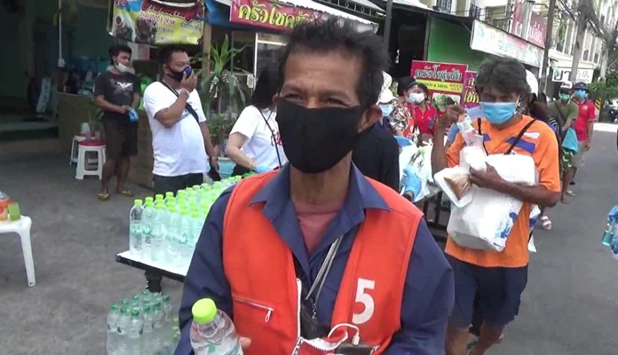 Motorcycle taxi driver Pha Rabiab said life would be better if the government relaxed the lockdown and let him get back to work.