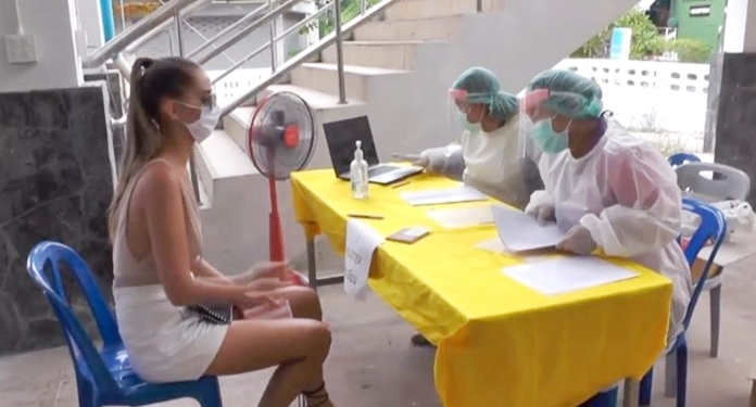 Foreigners receive medical care provided by the local hospital.