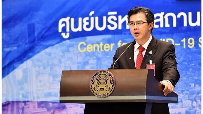The Center for the COVID-19 Situation Administration spokesman, Dr Taweesin Visanuyothin.