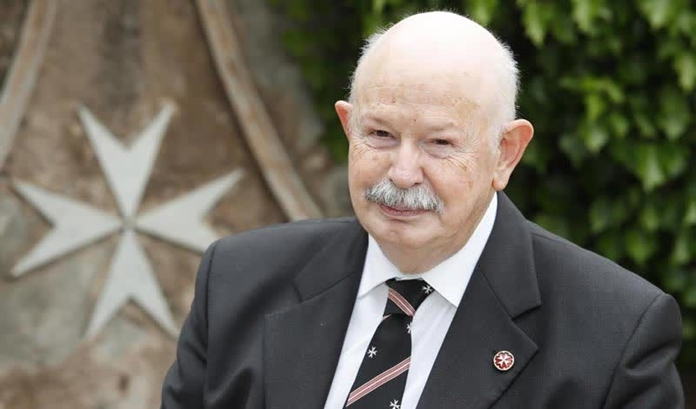 His Most Eminent Highness the Prince and the Grand master of the Sovereign Military Order of Malta, Fra' Giacomo Dalla Torre del Tempio di Sanguinetto