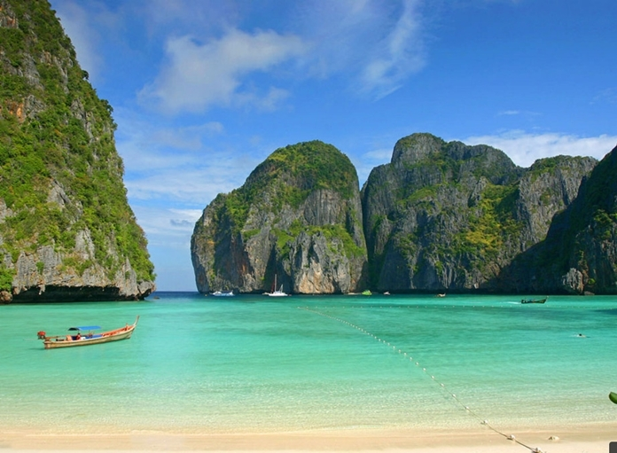 Phi Phi Islands, Andaman Sea, a paradise on earth for snorkeling and diving enthusiasts near Province of Phuket. (TAT photo).