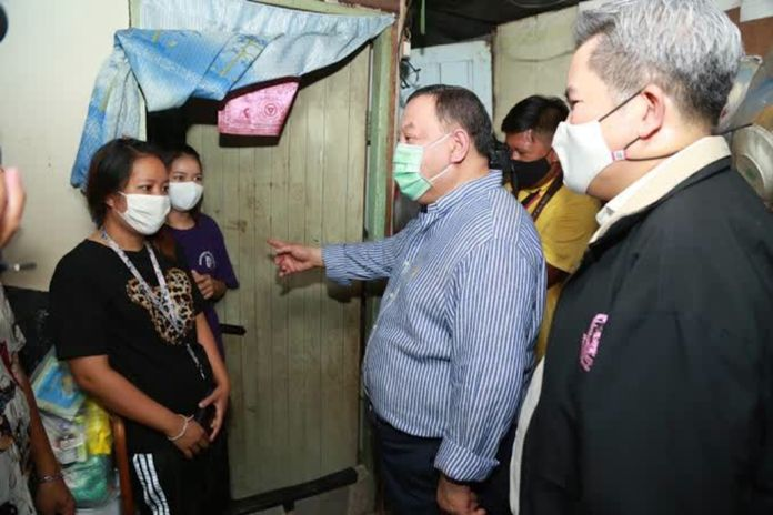 Minister Juti Krairiksh encourages people in Bangkok to provide information about their communities and families to the ministry to receive assistance.