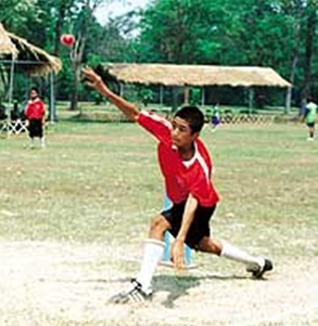 """The barefoot cricketers: Thai schoolchildren competing in the """"Sawasdee Sixes Cricket Cup""""."""