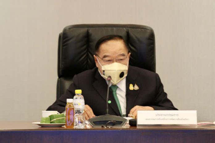 Deputy Prime Minister, Gen Prawit Wongsuwan.