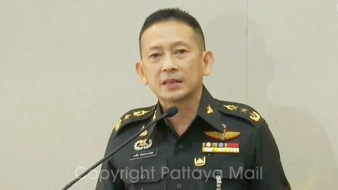 Lt. Gen. Kongcheep Tantrawanith said the Defense Ministry has identified suspects seeking kickbacks from getting Pattaya hotels certified to be government coronavirus quarantine centers and that none of them are from the military.