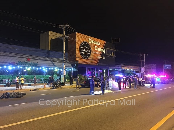 Two 14-year-old children driving a motorbike were killed at a blocked off Sukhumvit Road U-turn in Pattaya.