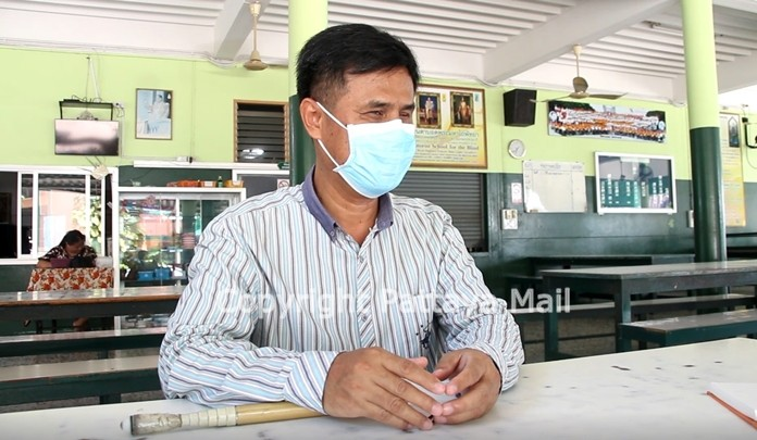 School Director Chid Suknu said the blind school is operating on 20 percent of its usual budget and has cut staff and expenses to the bone.