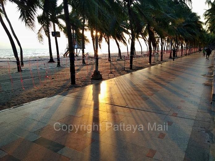 Bang San Beach at sunset.
