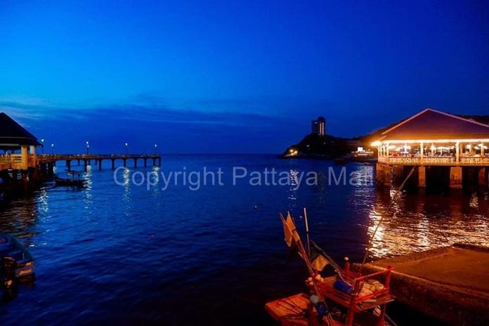 Laem Tan Beach/Bang San, Chonburi at night.