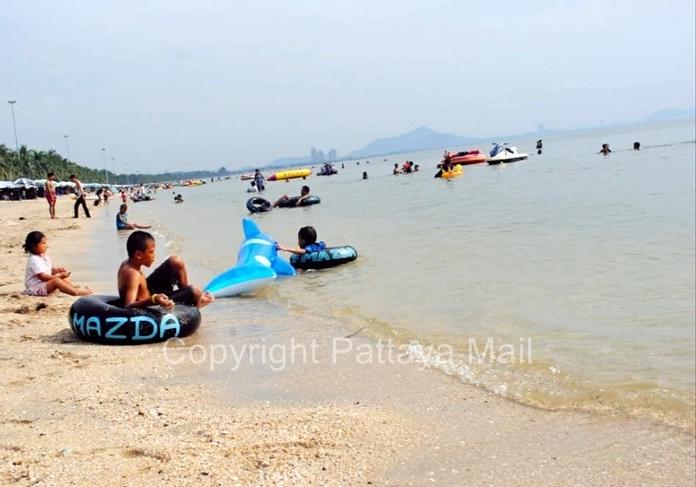 Bang San beach had many tourists before the coronavirus outbreak.