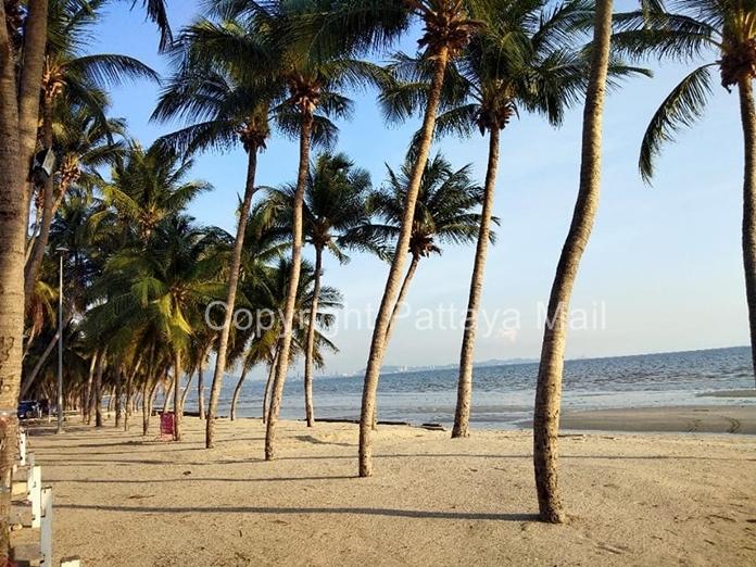 Back to nature: Bang San Beach during the shutdown.