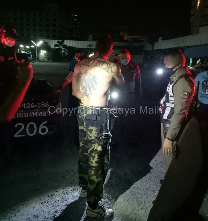 They did not identify the driver, but his tattoos written in Cyrillic indicated he was most likely from Eastern Europe.