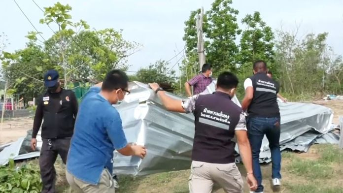 Nearly 100 houses in the northern Phichit province were destroyed by a powerful summer storm that lasted over an hour Monday morning.