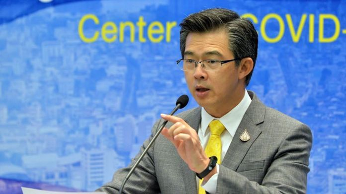 The Centre for Covid-19 Situation Administration (CCSA) spokesman, Dr. Taweesin Visanuyothin.