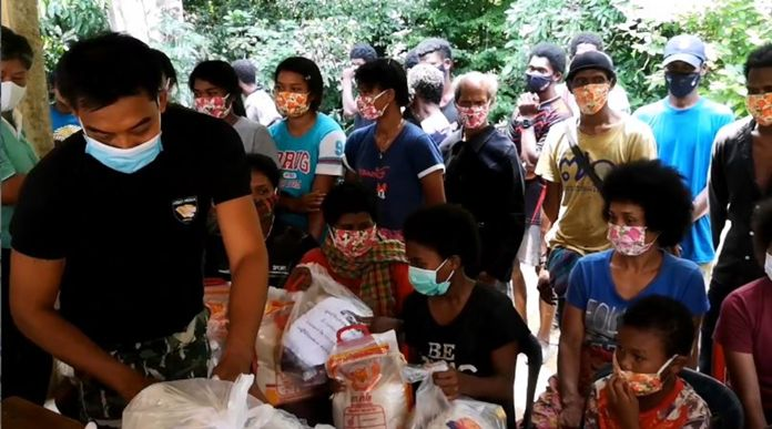 Southern Thailand rainforest jungle tribe 'Mani' community members have received relief packages from charity foundations under a COVID-19 social assistance program.