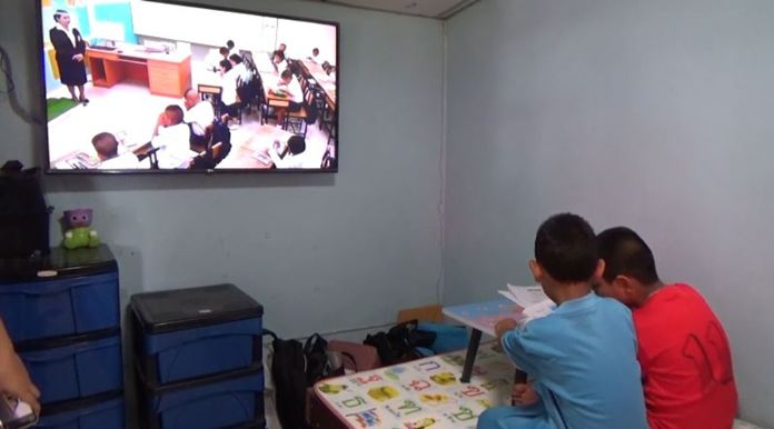 The state distance learning television (DLTV) and online classrooms were launched on Monday.